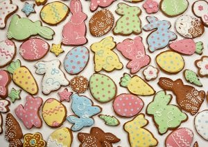 Background Of Easter Gingerbread