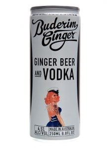 Buderim Ginger Ginger Beer Vodka Drink Can 250ml