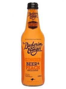 Buderim Ginger Beer Peach Nonalcoholic Bottle 330ml