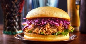 Buderim Ginger Pulled Pork Burger
