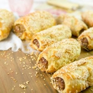 Buderim Ginger Chicken and Beef Sausage Roll Recipe
