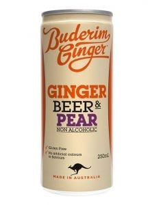 Buderim Ginger Ginger Beer And Pear Non Alcoholic Drink Can 250ml