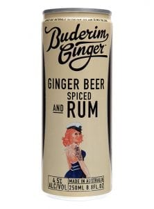 Buderim Ginger Ginger Beer Spiced Rum Drink Can 250ml