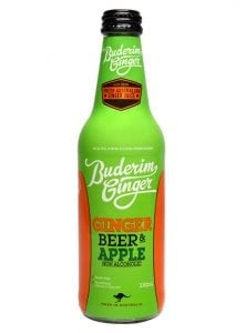 Buderim Ginger Beer Apple Nonalcoholic Bottle 330ml