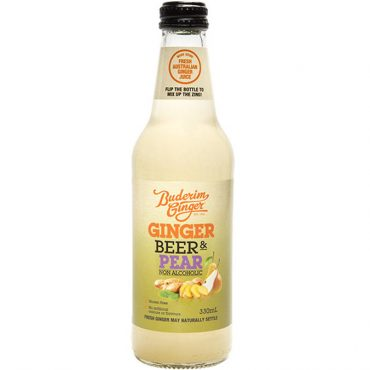 Buderim Ginger Beer Pear Nonalcoholic Bottle 330ml