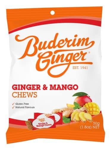 Buderim Ginger Mango Chews 50g