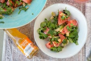 Recipe Watermelon Herb Salad And Ginger Dressing01