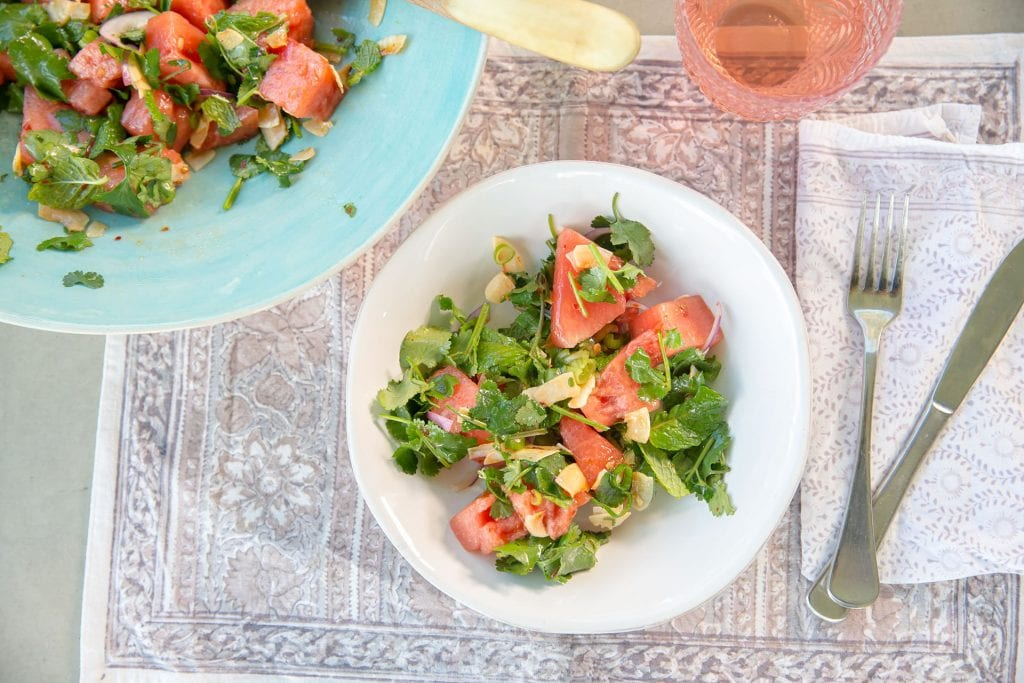 Recipe Watermelon Herb Salad And Ginger Dressing02