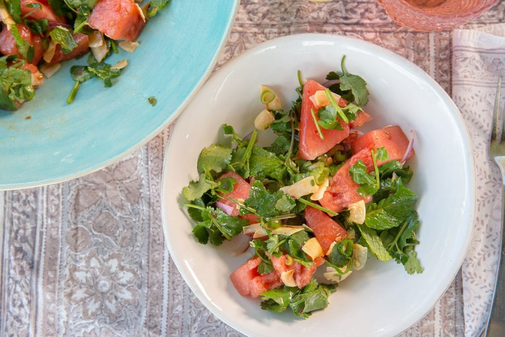 Recipe Watermelon Herb Salad And Ginger Dressing03