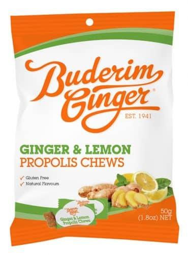 Buderim Ginger Lemon Propolis Chews 50g