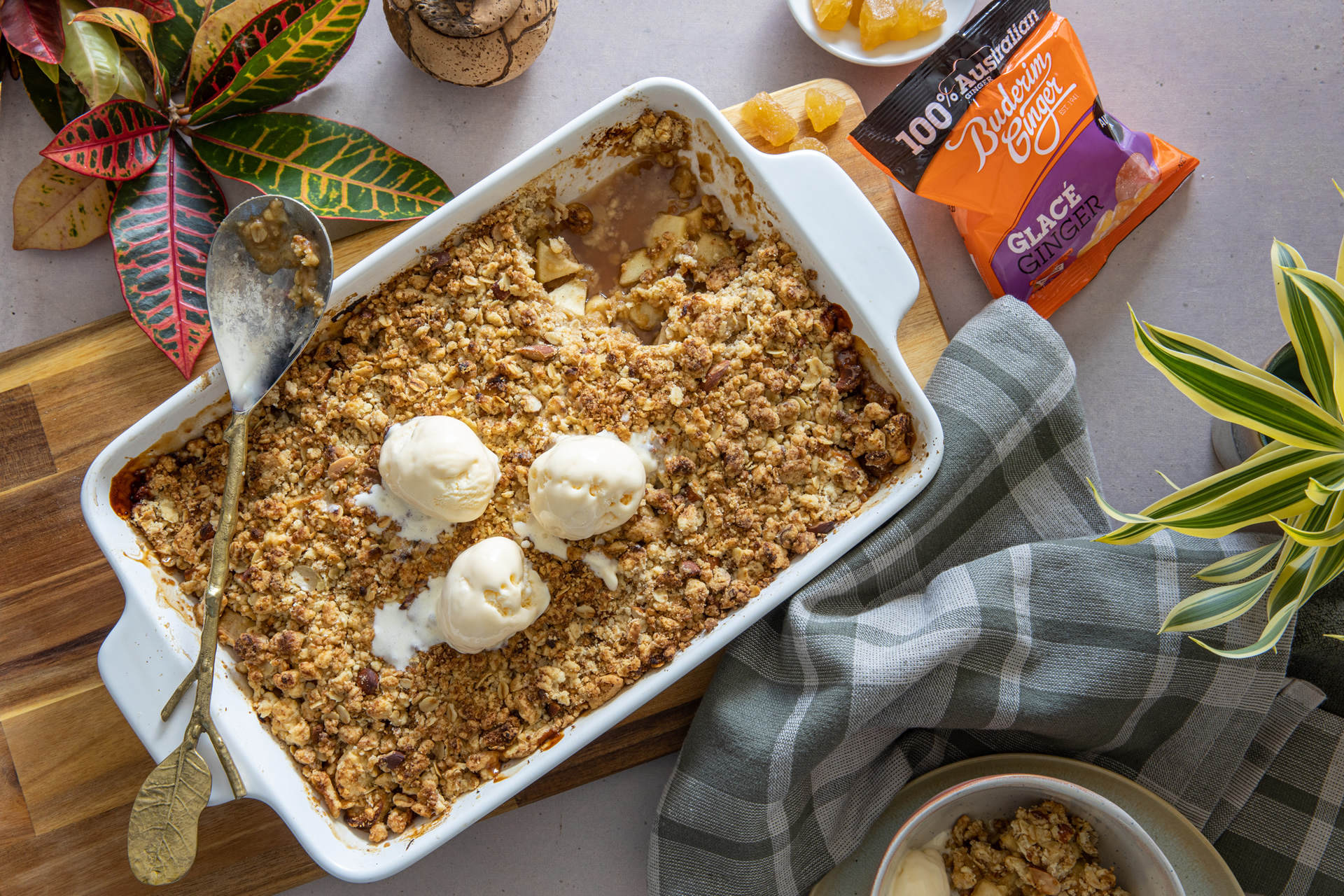 Recipe Apple Ginger Crumble