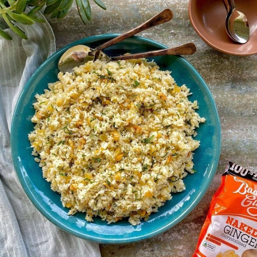 Recipe Ginger And Cashew Rice