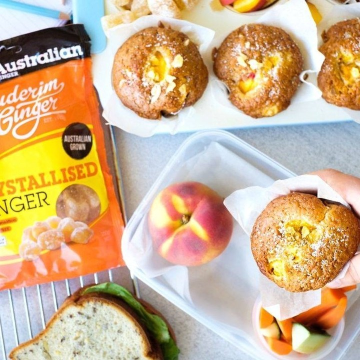Recipe Ginger Peach Muffins