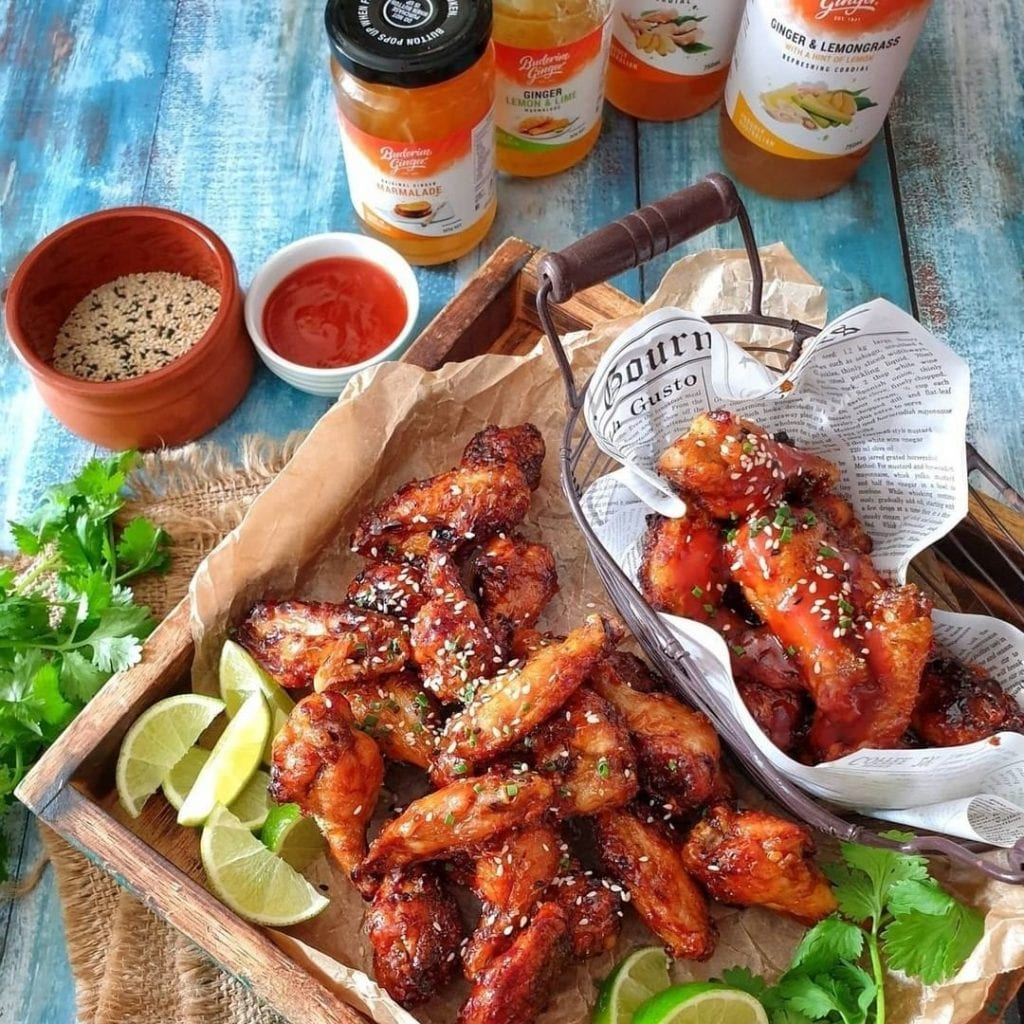 Recipe Ginger Sticky Chicken Wings