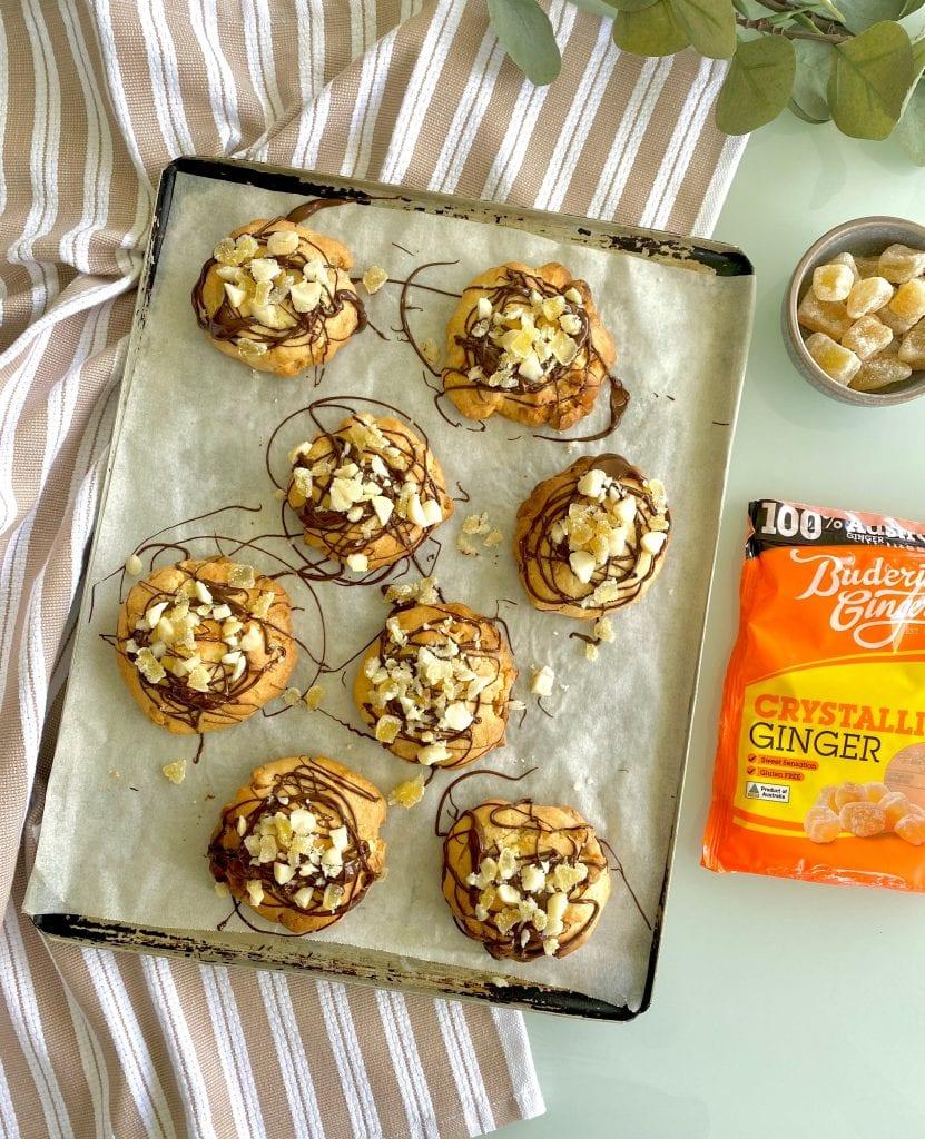 Recipe Ginger Macadamia Chocolate Cookies
