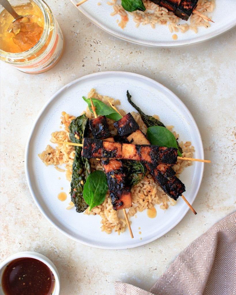 Recipe Ginger Soy Tofu Kebabs