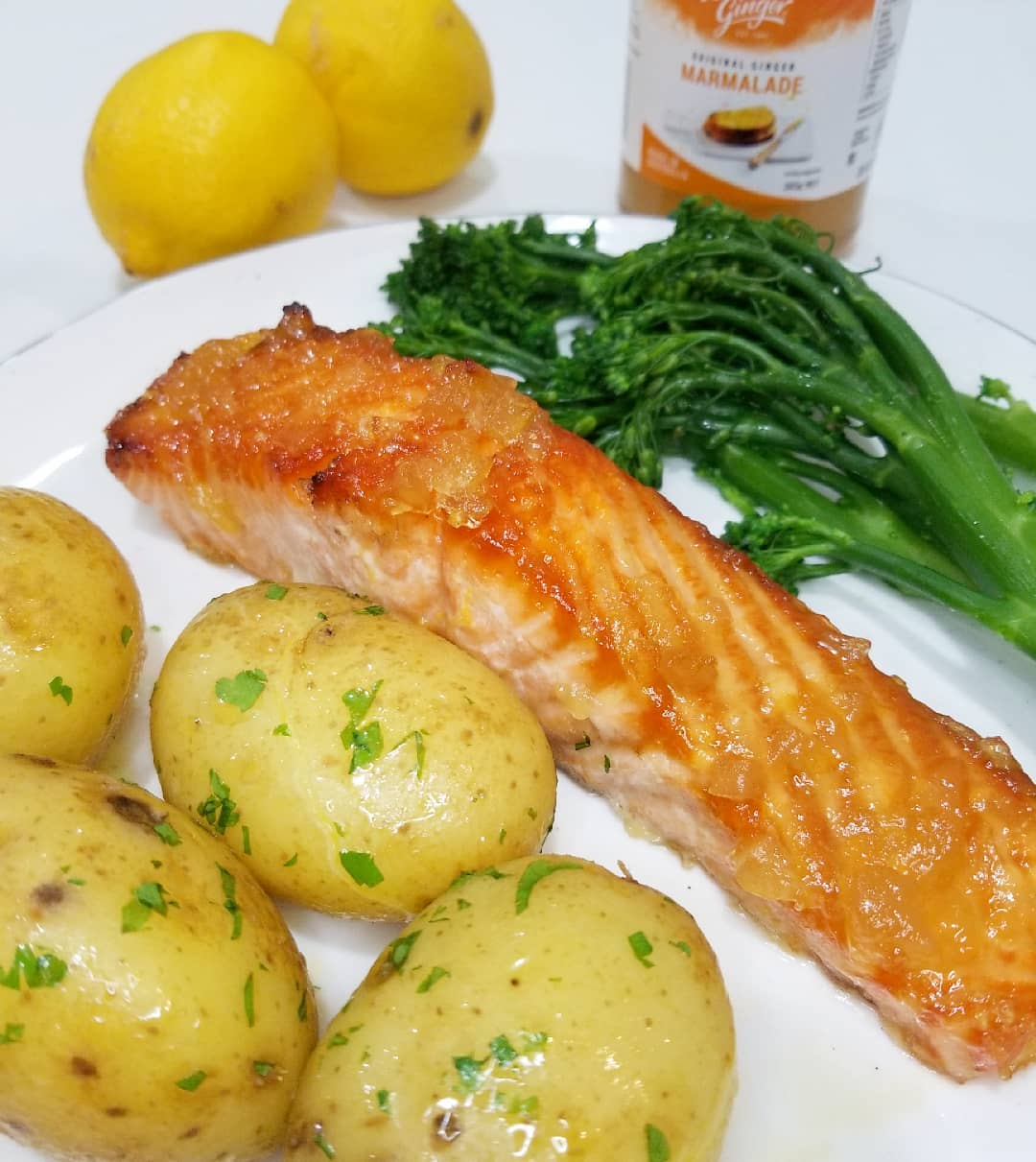 Recipe Oven Baked Salmon With Buderim Ginger Marmalade