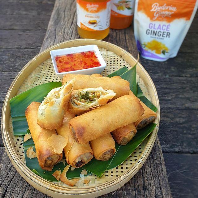 Recipe Crispy Vegan Spring Rolls With Buderim Ginger Dipping Sauce