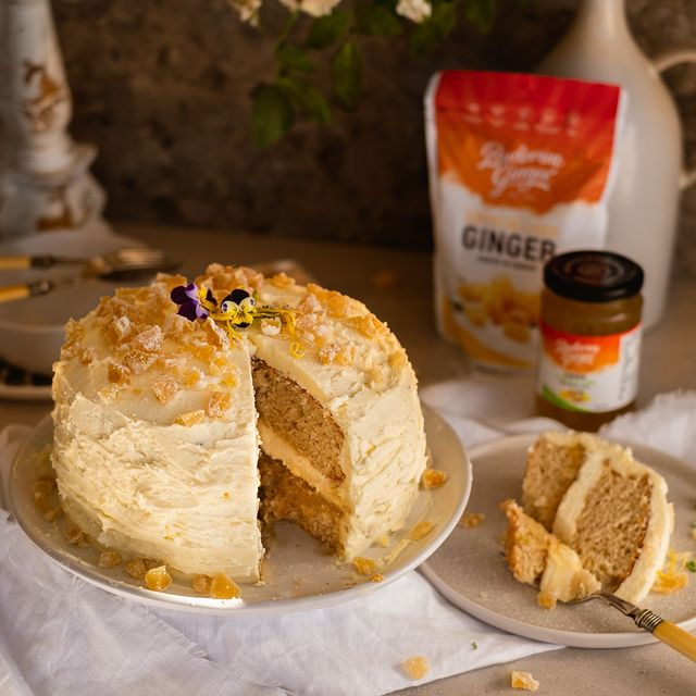 Recipe Easy Vanilla Ginger Crunch Cake