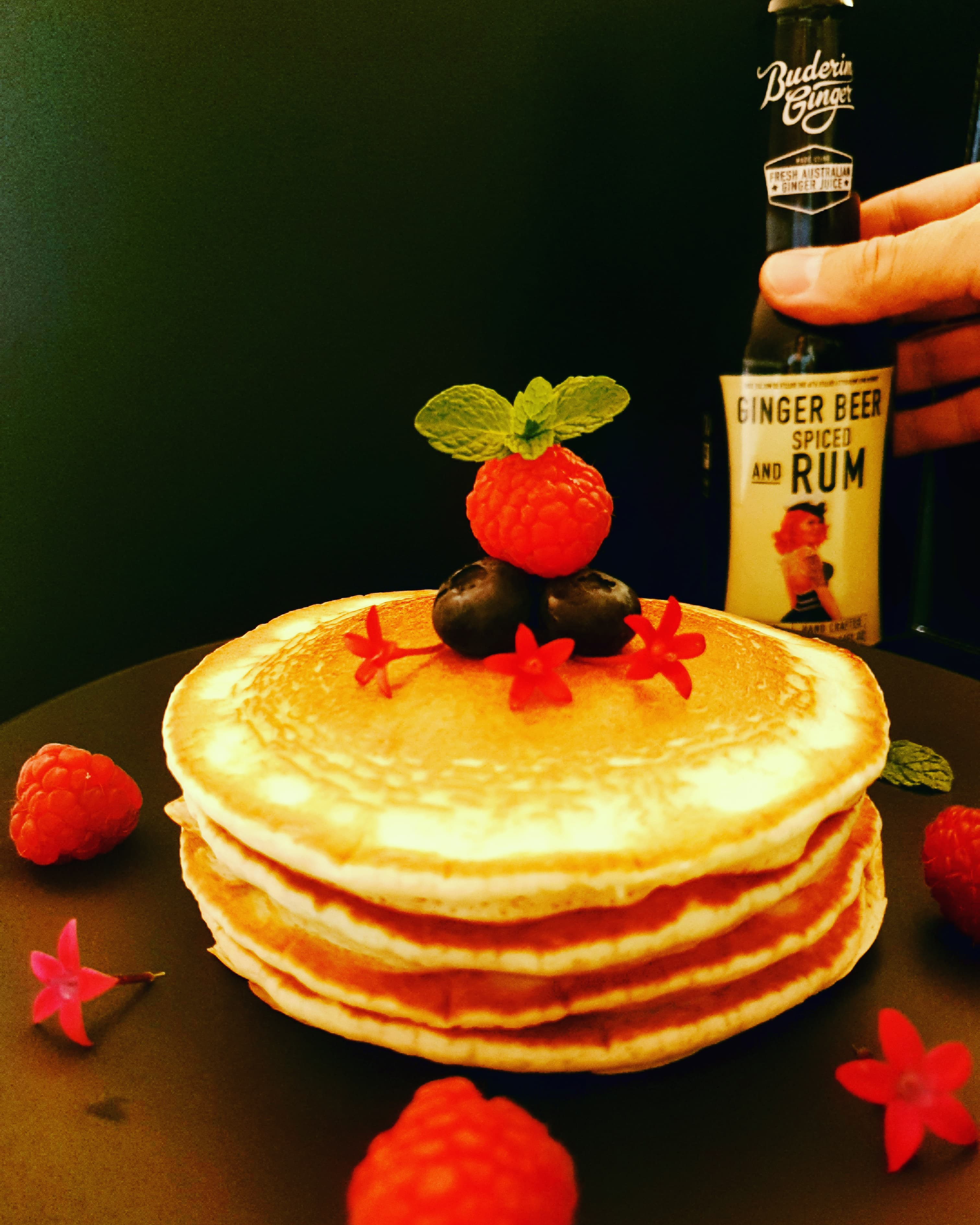 Recipe Ginger Beer Spiced Rum Pancakes