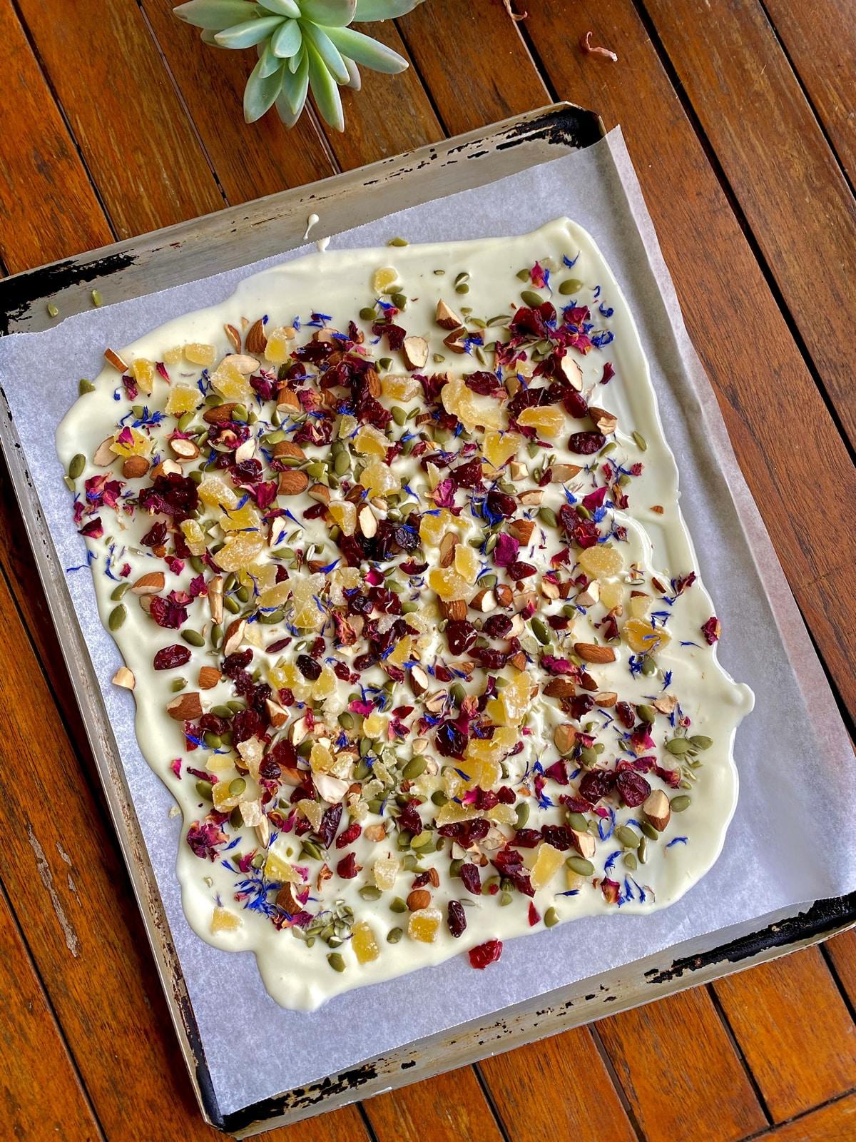 Recipe White Chocolate Bark