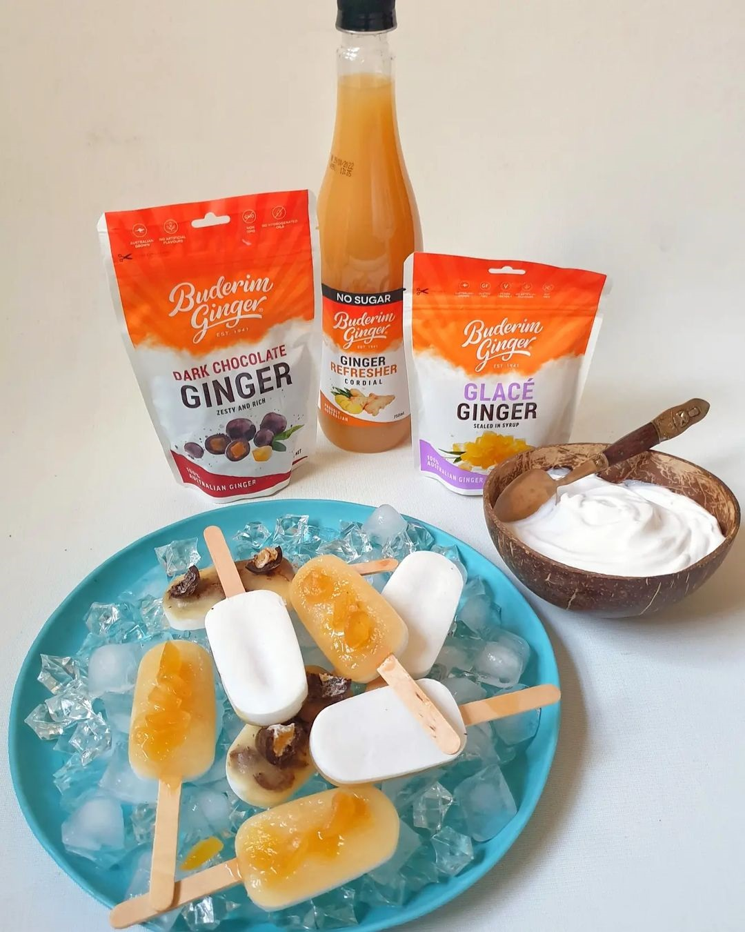 Recipe Buderim Ginger With Coconut Yoghurt Popsicles