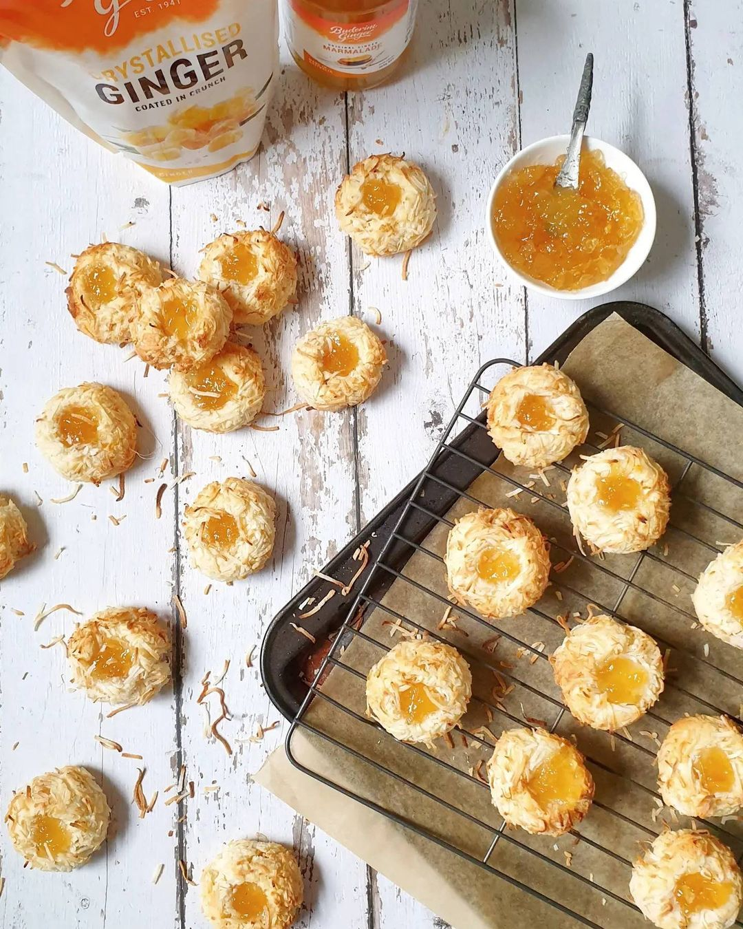 Recipe Coconut And Buderim Ginger Marmalade Cookies