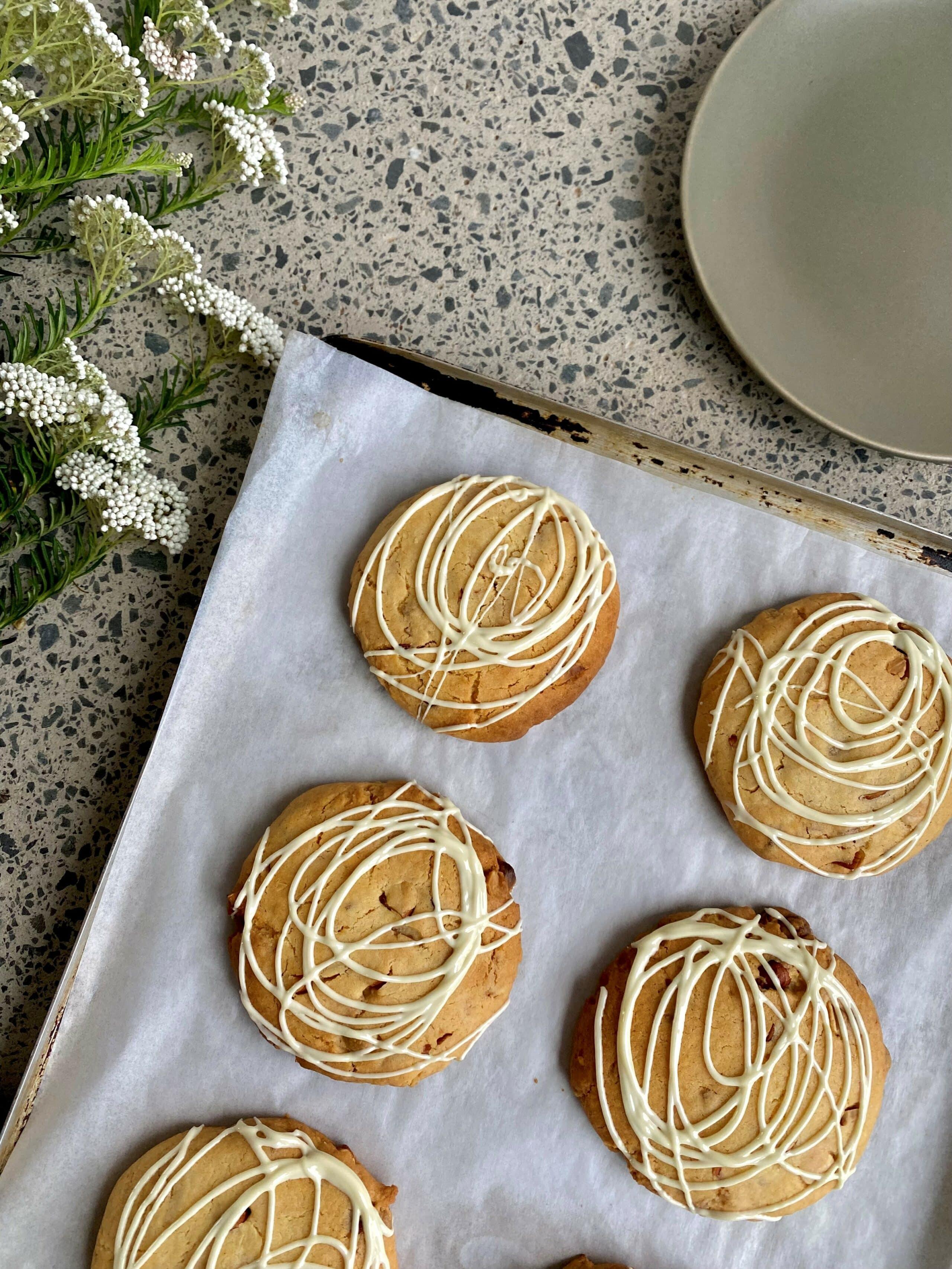 Recipe Ginger White Choc Almond Cookies